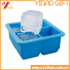 Kitchenware Make Makes 4 Extra Large Cubes Square Silicone Ice Cube Tray pictures & photos