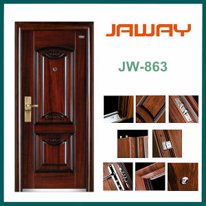 High Quality Factory Manufacturer Entry Single Leaf Steel Security Doors Residential pictures & photos