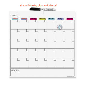 The Glass Dry Erase Board with Monthly /Weekly Planner