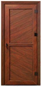 Woodgrain UPVC Single Leaf Door/ Toilet Door (BHP-CD24) pictures & photos