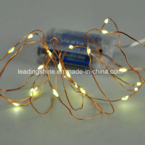 20 LEDs Warm White LED Micro Battery Rope Fairy Lights Garland pictures & photos