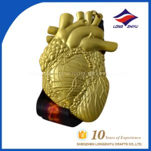 Shiny Metal Gold Medal Heart Shape Marathon Gold Medal Manufacturer pictures & photos