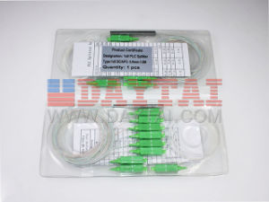 Sc APC Connector 0.9mm Fiber Diameter Mini Type 1*8 Optical Coupler Optical Splitter pictures & photos