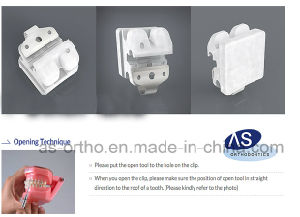 as-Orthodontic Manufacturer Ceramic Self Ligating Bracket pictures & photos
