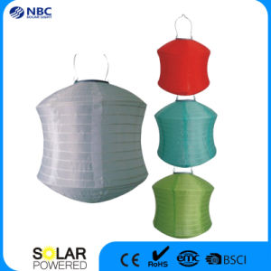High Quality Waterproof Fabric Sun Powered Lantern Solar Light with LED Light pictures & photos