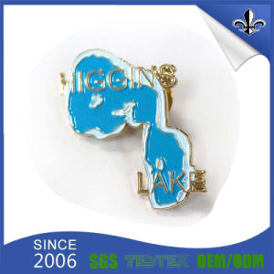 Modern Plating 3D Customized Metal Badge with Butterfly Clutch pictures & photos