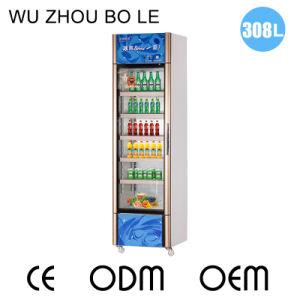 308L Vertical Glass Single Door Showcase with PVC Door Seal