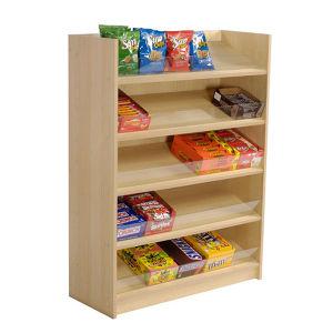 Wooden 5 Tiers Floor Food Candies Sweet Rack Display Stand pictures & photos