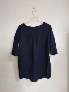 100%Linen, Women′s T-Shirt, Blue Color, Clothing, Soft pictures & photos