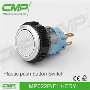 22mm Plastic Button Switch (MP22P/F11-D) pictures & photos