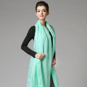 Polyester Chiffon Green Scarf for Women pictures & photos