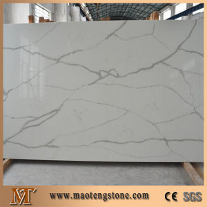 Natural Look Calacatta White Artificial Marble Quartz Stone Slabs pictures & photos