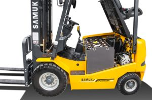 Samuk 1.8ton Battery Forklift Truck with Zapi AC System pictures & photos