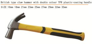 British Type Claw Hammer Double Color Plastic Coating Handle pictures & photos