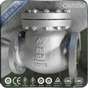 JIS Flanged Cast Steel Swing Check Valve pictures & photos