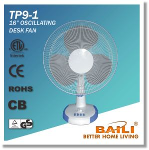 "Good Quality 16"" Oscillating Cooling Desk Fan, Table Fan pictures & photos"