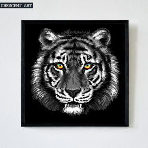 Black and White Wildlife Tiger Portrait Canvas Art Print pictures & photos