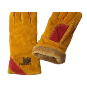 Cow Split Leather Full Lined Welder Work Glove pictures & photos