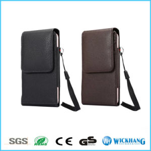 Vertical Leather Belt Clip Holster Wallet Phone Case with Card Holder pictures & photos