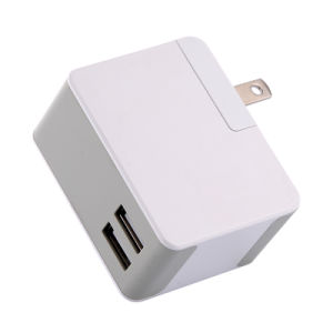 Interchangeable Plugs Portable Dual USB Mobile Phone Travel Wall Charger pictures & photos
