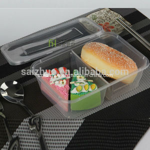 1000ml 2 Compartment Stackable Disposable Plastic Take Away Food Container pictures & photos