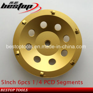 5inch 6PCS 1/4 PCD Segment Grinding Cup Wheel for Concrete pictures & photos