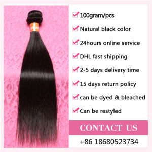 Nice Quality Human Hair Extensions / Straight Weave Bundles Virgin Indian Hair pictures & photos