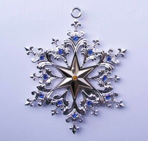 Sivler Xmas Ornaments Snowflake Snata pictures & photos