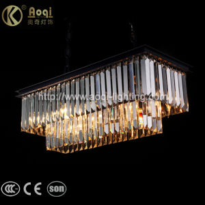Modern Design Rectangle Crystal Pendant Light pictures & photos