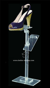 Slanted Acrylic Shoe Display Holder Btr-G1029 pictures & photos