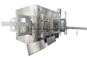Complete Turn-Key Automatic Water Fruit Juice Bottle Beverage Filling Labeling Packing Machine pictures & photos