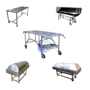 Mortuary Equipment Stainless Steel Morgue Cart pictures & photos
