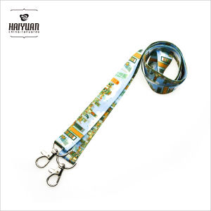 Double Hook Lanyards in Full Color Printing pictures & photos