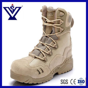 Black Military Army Tactical Combat Land Police Boots Shoes (SYSG-125) pictures & photos