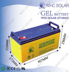 High Capacity 12V 100ah Solar Gel Battery for Solar System pictures & photos