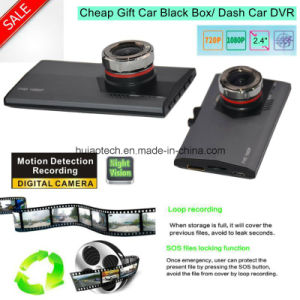 "Hot Cheap Gift Slim 2.4"" Dash Car HD1080p Digital Video Recorder 1.3mega Car Camera DVR-2444 pictures & photos"