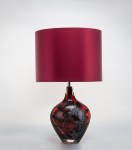 Wine Red Decoration Hand Blown Glass Art Desk Lamp (KA5184T) pictures & photos
