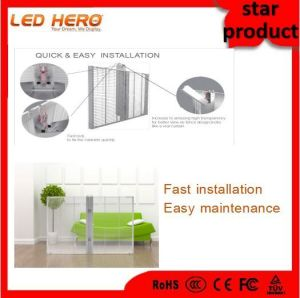Beautiful/Clear P7.5-8 of Transparent Screen for Glass Building pictures & photos
