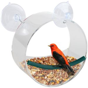 High Quality Elegant Clear and Transparent Acrylic Round Bird Feeder pictures & photos