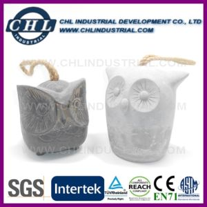 Owl Shaped Stone Finished Decorative Printed Cement Door Stop pictures & photos