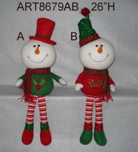Dangle Legged Christmas Self Sitter Decoration Gift-3assorted pictures & photos