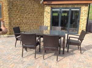 Marbella Outdoor Table and Armchairs pictures & photos