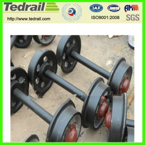 Customizable Strength Loading Cast Iron or Cast Steel Mine Car Wheel Set/Coal Mining Wagon Wheel pictures & photos