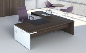 Modern Office Table Desk Metal Structure Wooden Computer Table (SZ-ODT705) pictures & photos