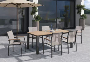 UV-Resistant PE-Rattan Catering Chair and Ploywood Top Table