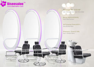 Popular High Quality Salon Furniture Mirror Barber Salon Chair (P2018E) pictures & photos