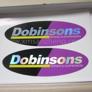 Custom Glossy Shiny Self Adhesive Water Resistant Oval Hologram Stickers pictures & photos