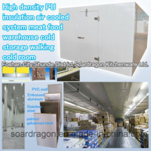 High Density PU Insulation Meat Food Warehouse Walking Cold Room pictures & photos