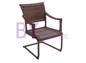 Villa Outdoor Hand-Weaving PE Rattan Spring Chair Furniture pictures & photos