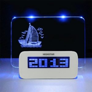 Highlight Digital Alarm Clock with Message Board pictures & photos
